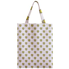 Angry Emoji Graphic Pattern Zipper Classic Tote Bag