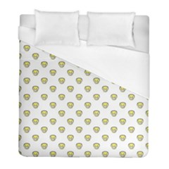 Angry Emoji Graphic Pattern Duvet Cover (Full/ Double Size)