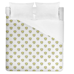 Angry Emoji Graphic Pattern Duvet Cover (Queen Size)