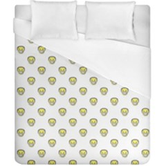 Angry Emoji Graphic Pattern Duvet Cover (California King Size)