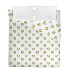 Angry Emoji Graphic Pattern Duvet Cover Double Side (Full/ Double Size)