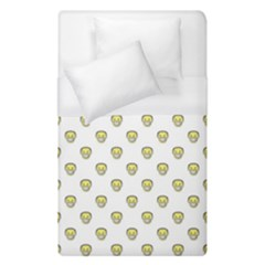 Angry Emoji Graphic Pattern Duvet Cover (Single Size)