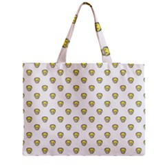 Angry Emoji Graphic Pattern Medium Zipper Tote Bag