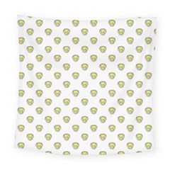 Angry Emoji Graphic Pattern Square Tapestry (Large)