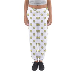 Angry Emoji Graphic Pattern Women s Jogger Sweatpants