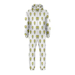 Angry Emoji Graphic Pattern Hooded Jumpsuit (Kids)