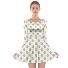 Angry Emoji Graphic Pattern Long Sleeve Skater Dress