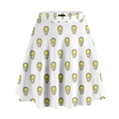 Angry Emoji Graphic Pattern High Waist Skirt