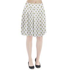 Angry Emoji Graphic Pattern Pleated Skirt