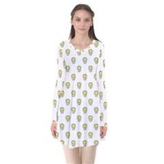 Angry Emoji Graphic Pattern Flare Dress