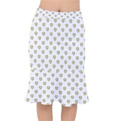 Angry Emoji Graphic Pattern Mermaid Skirt