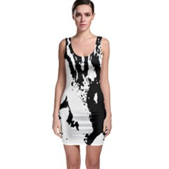 Cat Sleeveless Bodycon Dress