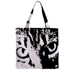 Cat Zipper Grocery Tote Bag