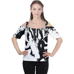 Cat Women s Cutout Shoulder Tee