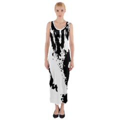 Cat Fitted Maxi Dress