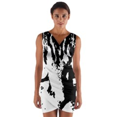 Cat Wrap Front Bodycon Dress