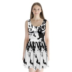 Cat Split Back Mini Dress