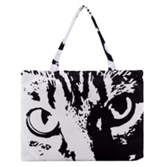 Cat Medium Zipper Tote Bag