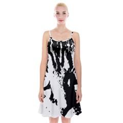 Cat Spaghetti Strap Velvet Dress
