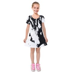 Cat Kids  Short Sleeve Velvet Dress