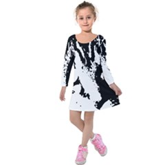 Cat Kids  Long Sleeve Velvet Dress