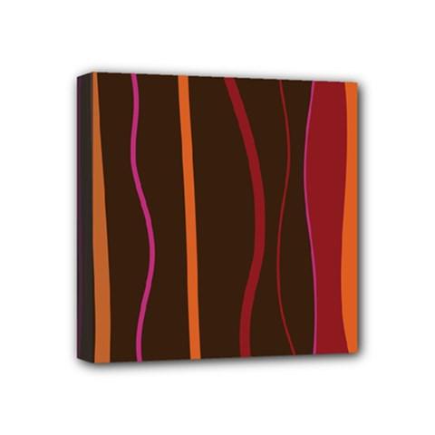 Colorful Striped Background Mini Canvas 4  x 4