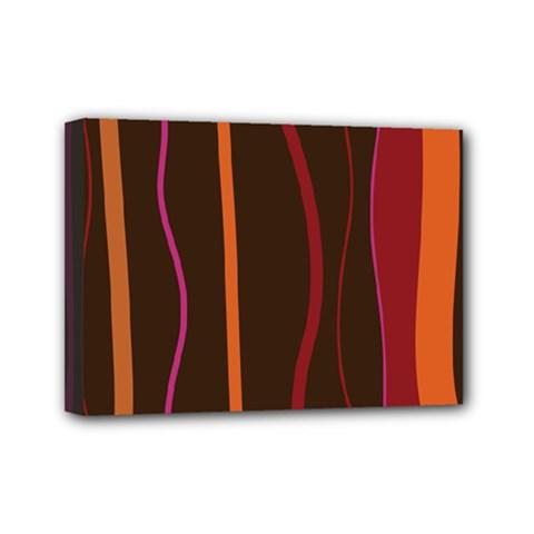 Colorful Striped Background Mini Canvas 7  x 5