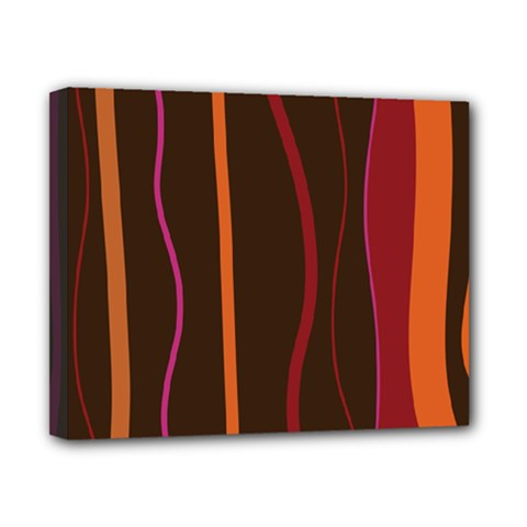 Colorful Striped Background Canvas 10  x 8