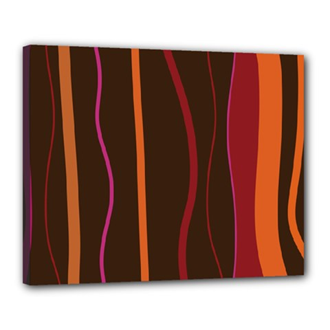 Colorful Striped Background Canvas 20  x 16