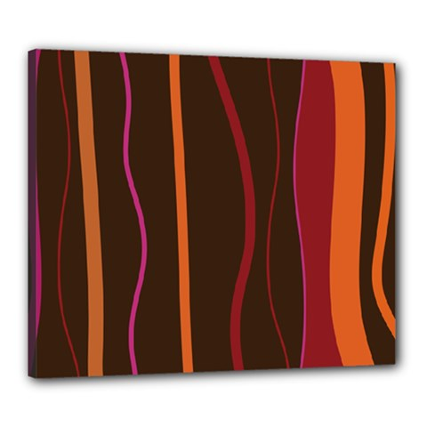 Colorful Striped Background Canvas 24  x 20
