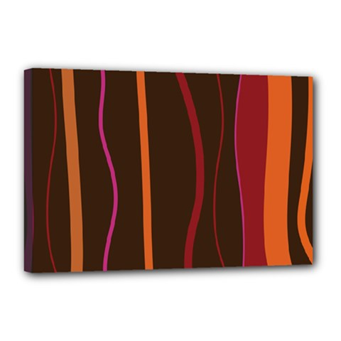 Colorful Striped Background Canvas 18  x 12
