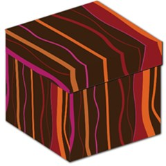 Colorful Striped Background Storage Stool 12