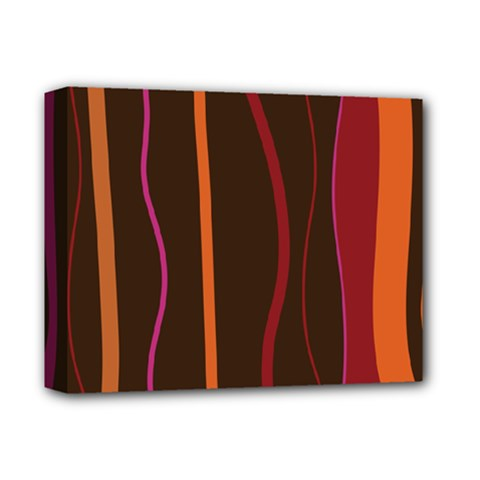 Colorful Striped Background Deluxe Canvas 14  x 11