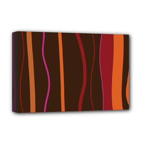 Colorful Striped Background Deluxe Canvas 18  x 12