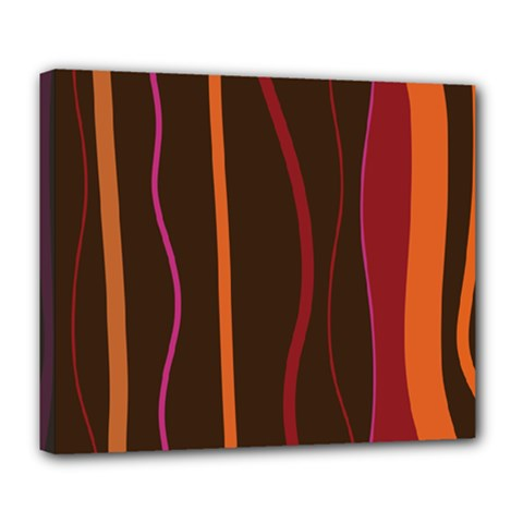 Colorful Striped Background Deluxe Canvas 24  x 20