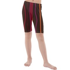 Colorful Striped Background Kids  Mid Length Swim Shorts