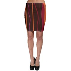 Colorful Striped Background Bodycon Skirt
