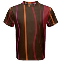 Colorful Striped Background Men s Cotton Tee