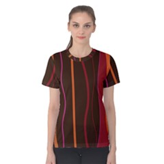 Colorful Striped Background Women s Cotton Tee