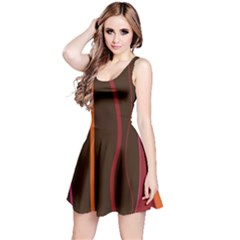 Colorful Striped Background Reversible Sleeveless Dress