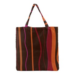 Colorful Striped Background Grocery Tote Bag