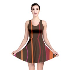 Colorful Striped Background Reversible Skater Dress