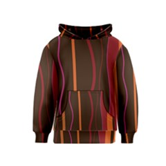Colorful Striped Background Kids  Pullover Hoodie