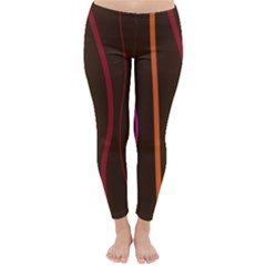 Colorful Striped Background Classic Winter Leggings