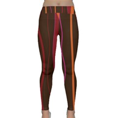 Colorful Striped Background Classic Yoga Leggings