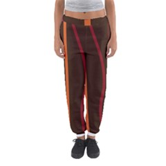 Colorful Striped Background Women s Jogger Sweatpants