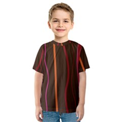 Colorful Striped Background Kids  Sport Mesh Tee