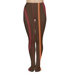 Colorful Striped Background Women s Tights