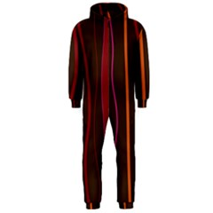 Colorful Striped Background Hooded Jumpsuit (Men)