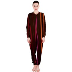 Colorful Striped Background OnePiece Jumpsuit (Ladies)